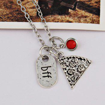 BFF Carving Decoration Friendship Necklace -  RED