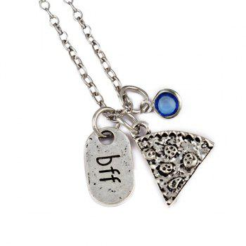 BFF Carving Decoration Friendship Necklace - BLUE BLUE