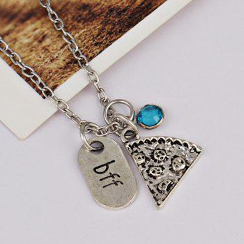 BFF Carving Decoration Friendship Necklace -  SKY BLUE