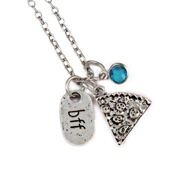 BFF Carving Decoration Friendship Necklace - SKY BLUE SKY BLUE
