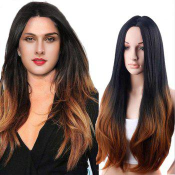 Long Middle Parting Natural Straight Ombre Synthetic Wig - COLORMIX COLORMIX