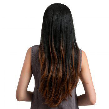 Long Middle Parting Natural Straight Ombre Synthetic Wig - COLORMIX