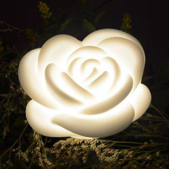 Valentine's Day Gift Rose Shape LED Touch Night Light - WHITE