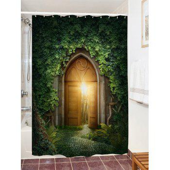 Creepers Gate Print Waterproof Shower Curtain - GREEN W71 INCH * L79 INCH