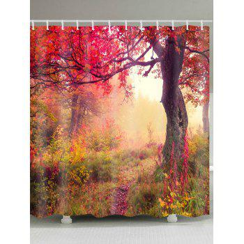 Maple Forest Path Print Waterproof Shower Curtain - COLORMIX COLORMIX
