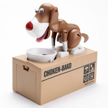 Electric Dog Shape Money Boxes - WHITE AND BROWN WHITE/BROWN