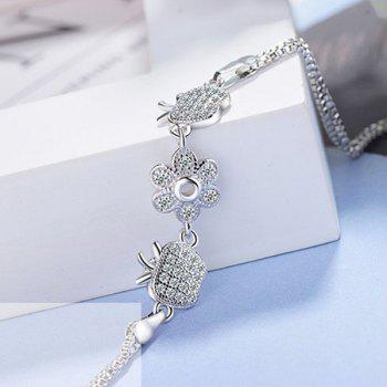 Flower Fruit Apple Chain Bracelet - SILVER