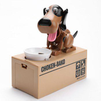 Electric Dog Shape Money Boxes - BLACK/BROWN