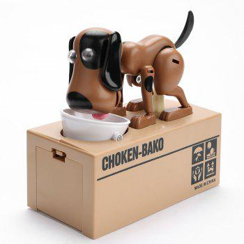 Electric Dog Shape Money Boxes - BLACK AND BROWN BLACK/BROWN