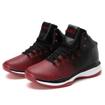 Color Blocking Athletic Shoes - BLACK/RED 45