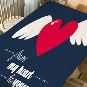 From My Heart to Yours Printed Waterproof Table Cloth - COLORFUL W54 INCH * L54 INCH