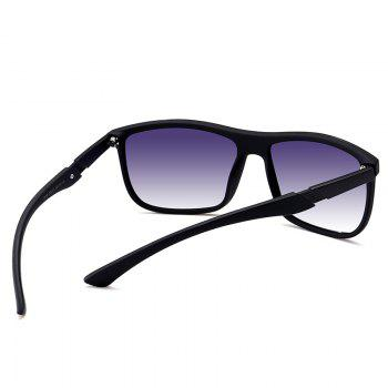Anti-Fatigue Full Frame Polarized Leans Sunglasses -  BLACK FRAME/GREY LENS