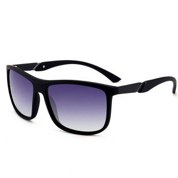 Anti-Fatigue Full Frame Polarized Leans Sunglasses - BLACK FRAME+GREY LENS BLACK FRAME/GREY LENS