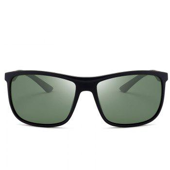 Anti-Fatigue Full Frame Polarized Leans Sunglasses -  BLACKISH GREEN