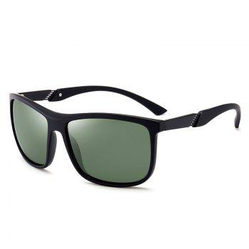 Anti-Fatigue Full Frame Polarized Leans Sunglasses - BLACKISH GREEN BLACKISH GREEN