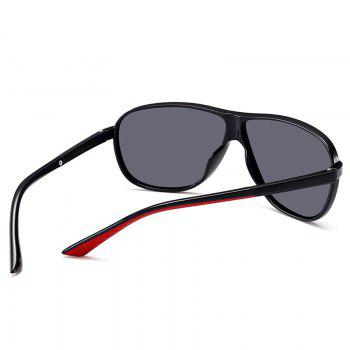 Anti-fatigue Full Frame Driver Sunglasses - BRIGHT BLACK/GREY