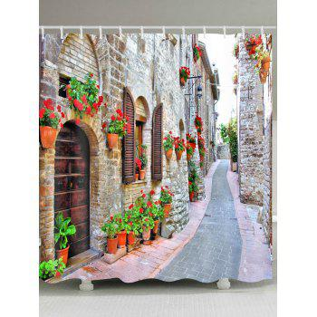 Brick House Alley Print Waterproof Shower Curtain - COLORMIX COLORMIX