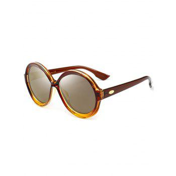 Anti-UV Full Frame Decorated Round Sunglasses - LUXURY GOLD COLOR LUXURY GOLD COLOR
