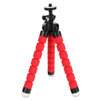 Flexible Mini Cell Phone Tripod With Universal Clip - RED RED