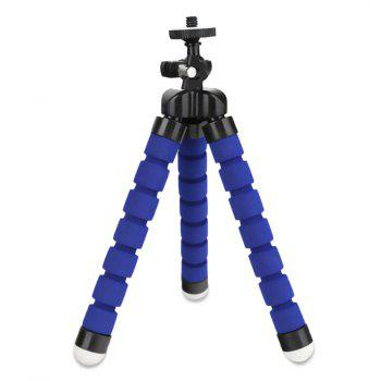 Flexible Mini Cell Phone Tripod With Universal Clip - BLUE BLUE
