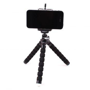 Flexible Mini Cell Phone Tripod With Universal Clip - BLACK 18*3.3*3.3CM