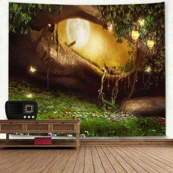 Fantasy Forest Hole Pattern Wall Decor Tapestry - COLORMIX W79 INCH * L71 INCH