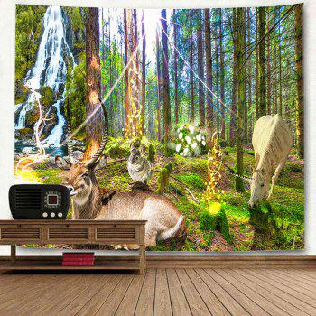 Nature Animal Print Wall Decor Hanging Tapestry - GREEN W79 INCH * L59 INCH