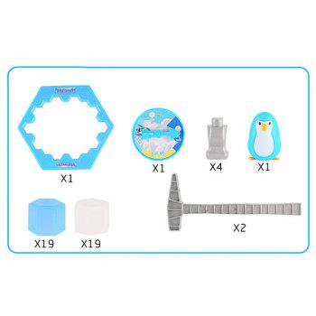Novelty Educational Puzzle Toy Saving Penguin Desktop Game - BLUE