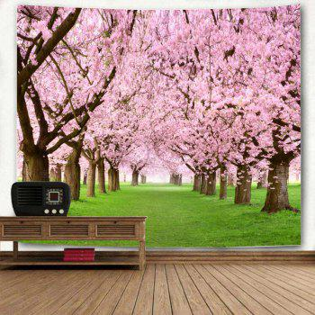 Wall Hanging Flower Forest Print Tapestry - PINK W79 INCH * L59 INCH