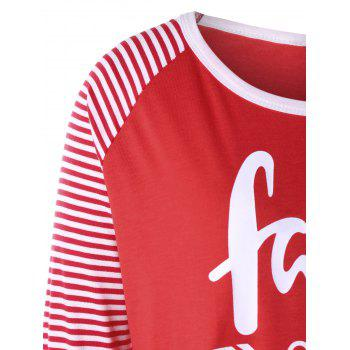 Plus Size Faith Over Fear Baseball Tee - RED RED