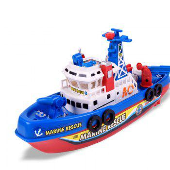 Children Bathing Music Light Electric Ship Marine Fireboat Water Toy(Without Batteries) - COLORFUL