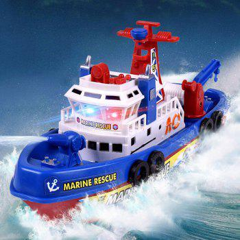 Children Bathing Music Light Electric Ship Marine Fireboat Water Toy(Without Batteries) - COLORFUL COLORFUL
