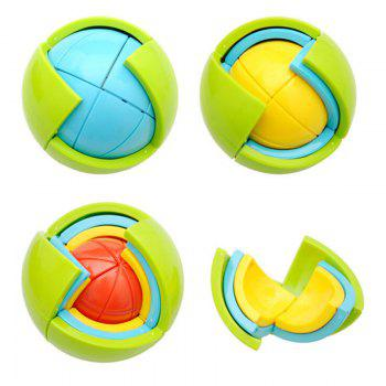 Educational Puzzle Toy 3D DIY Maze Toy Wisdom Ball - COLORFUL COLORFUL