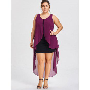 Plus Size Sleeveless Flowy Dress - VIOLET ROSE 4XL
