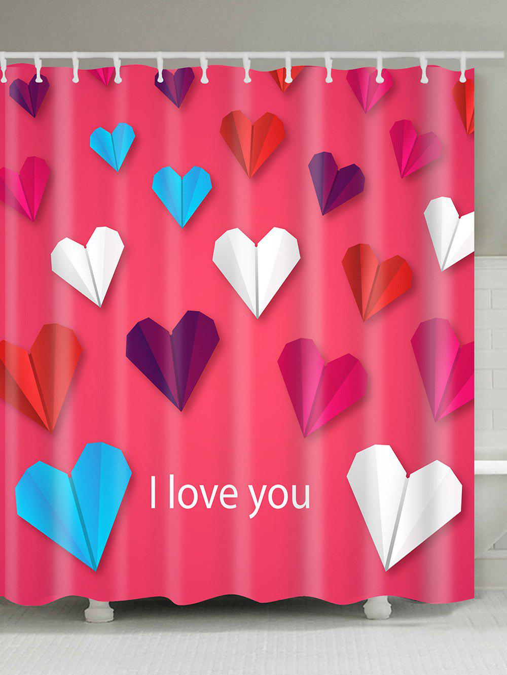 Heart Shape Paper Planes Pattern Shower Curtain easy remove planes