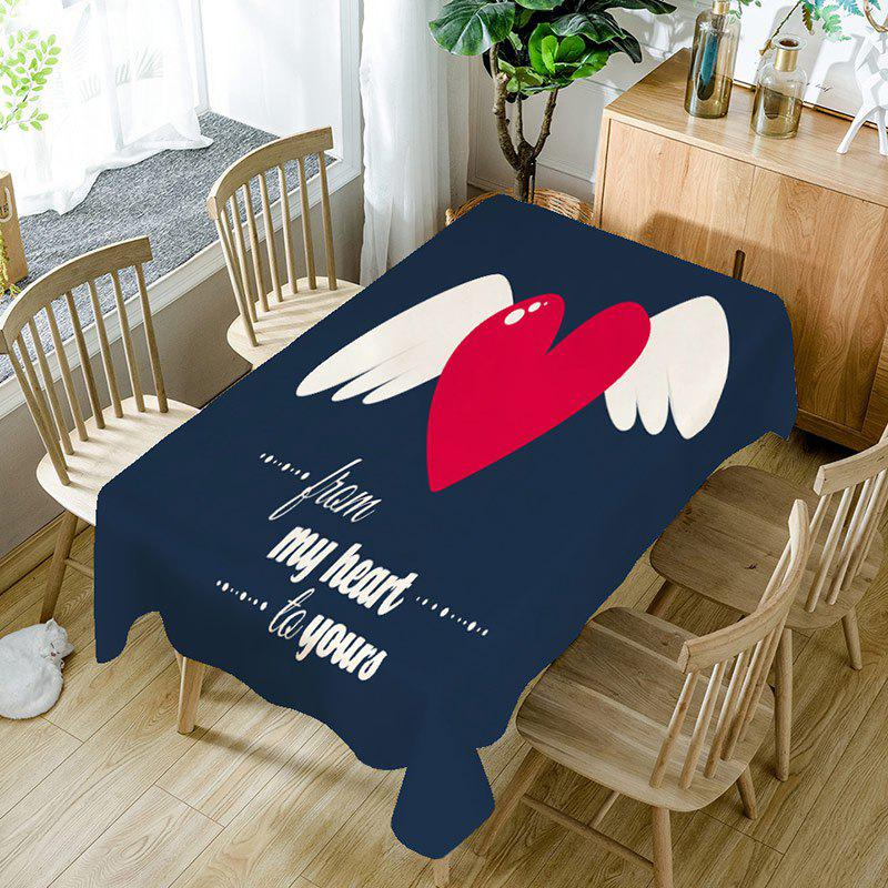 From My Heart to Yours Printed Waterproof Table Cloth - COLORFUL W60 INCH * L84 INCH