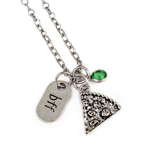 BFF Carving Decoration Friendship Necklace - GREEN