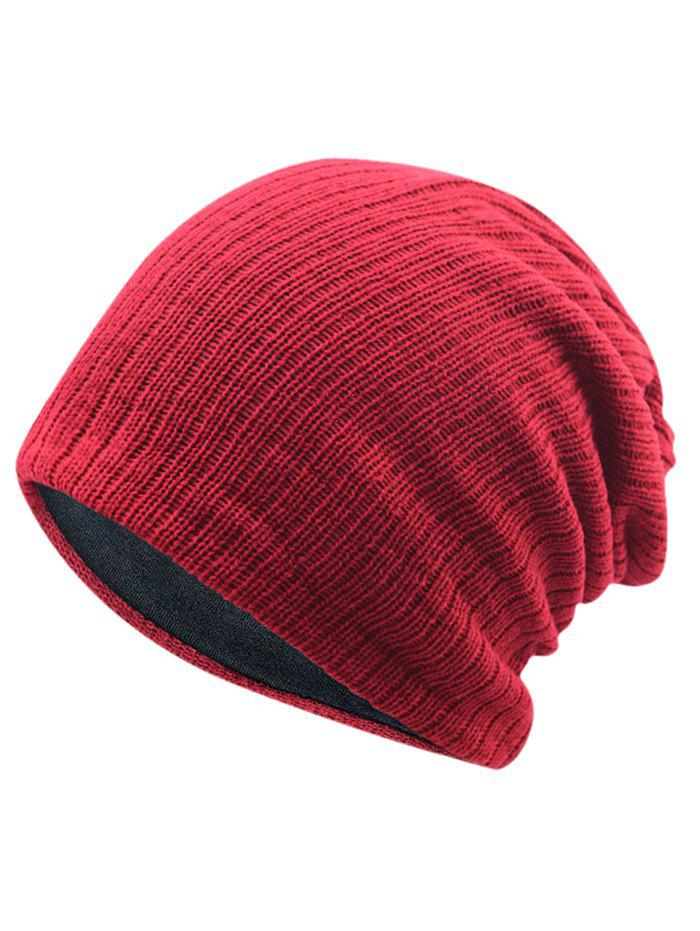 Outdoor Crochet Knitted Lightweight Beanie - RED