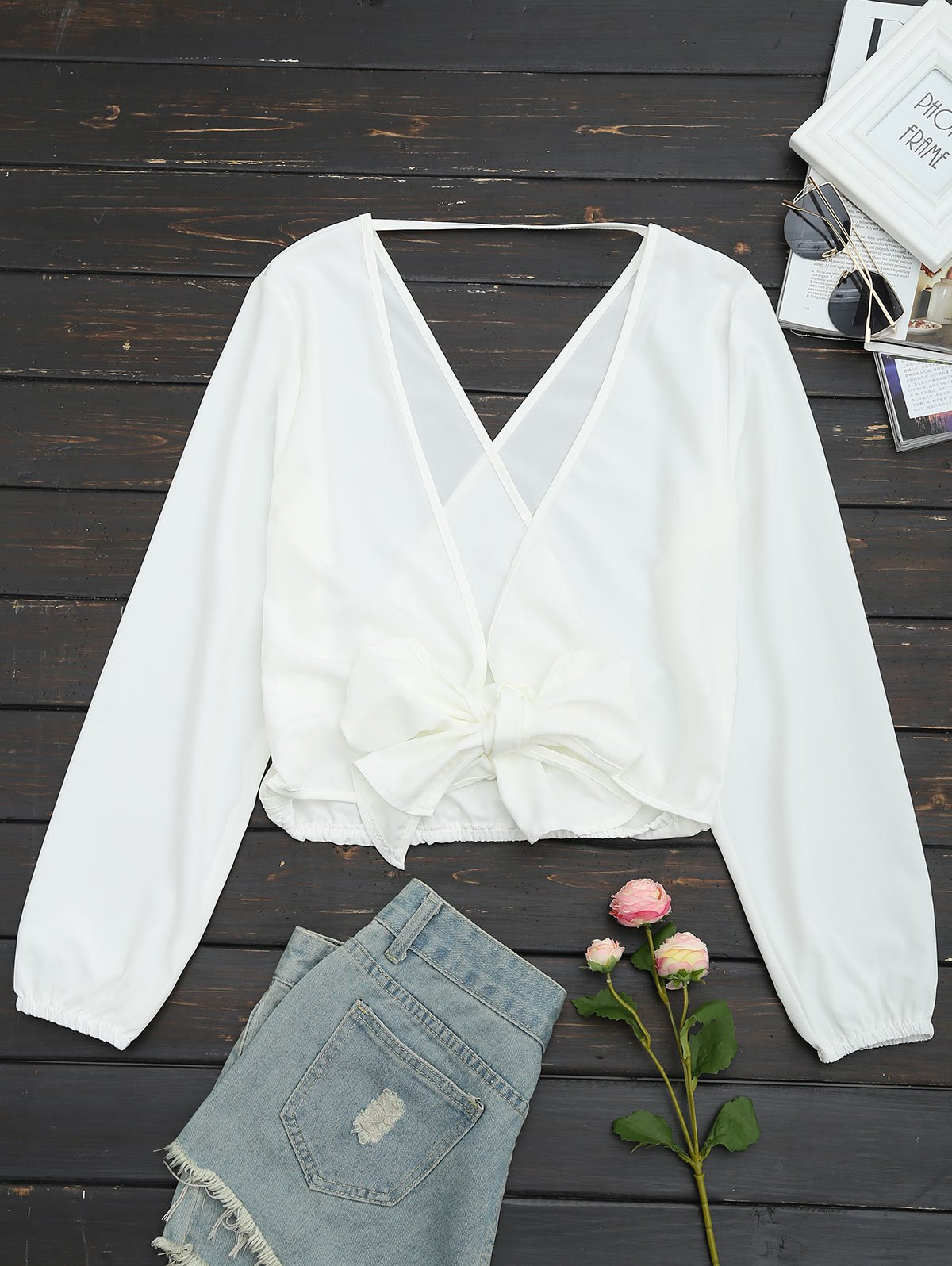 7a050cf702e765 Smocked Tie Back Blouse By Frame – Rockwall Auction