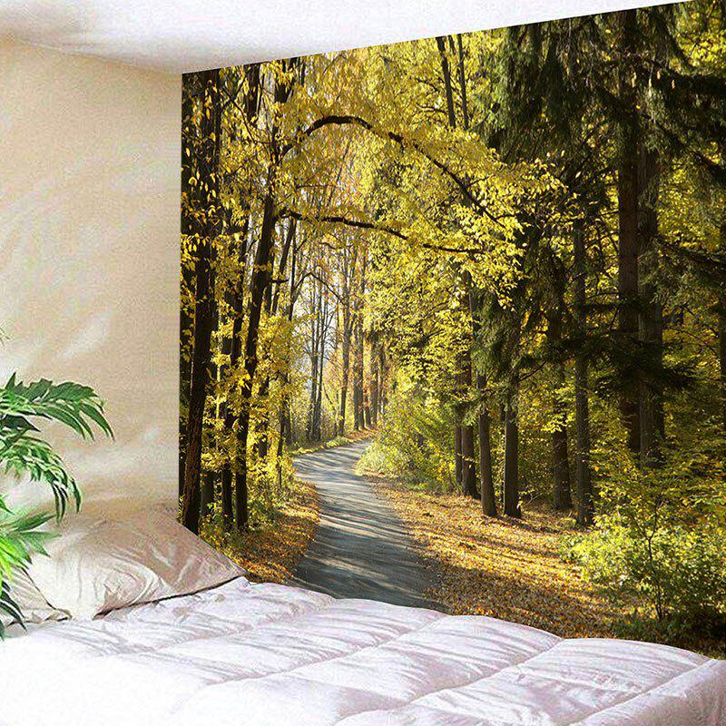 Forest Path Printed Wall Hanging Tapestry fog forest printed wall hanging tapestry