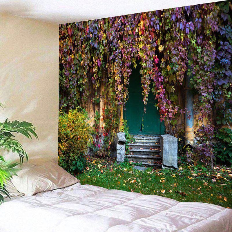 Wall Decor Old House with Vines Print Tapestry