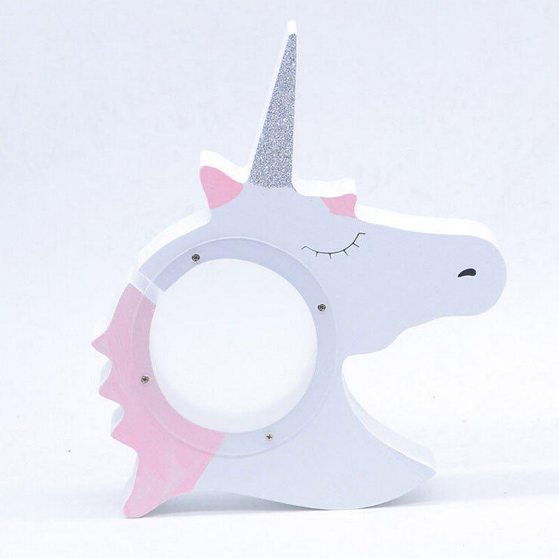 Unicorn Wooden Bank Money Box for Kids - SILVER