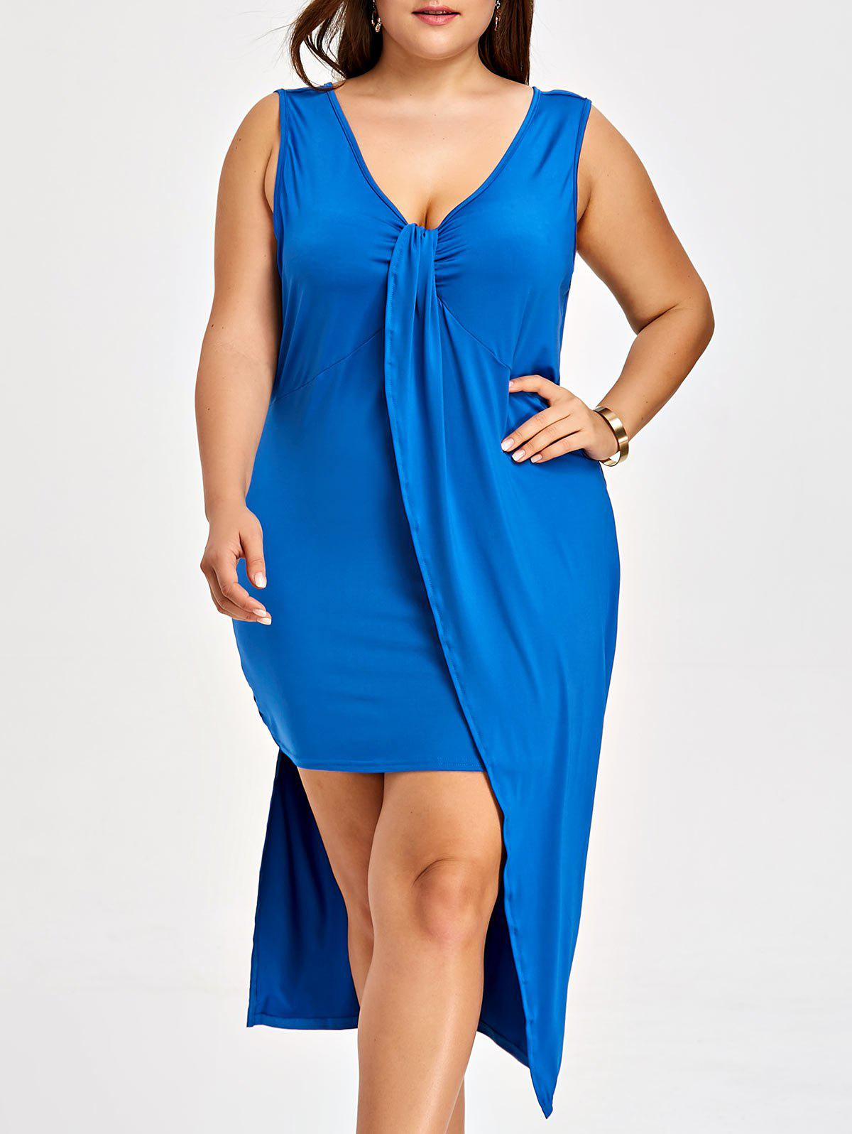 Cobalt blue long tank dress