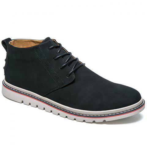 Breathable Studs Faux Leather Casual Shoes - BLACK 40