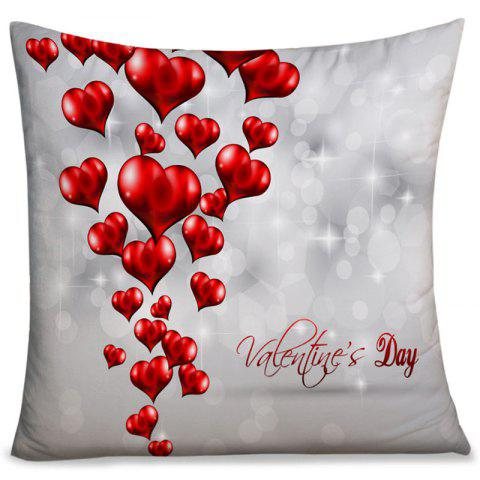 Valentine's Day Love Hearts Printed Throw Pillow Case - GRAY W18 INCH * L18 INCH