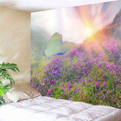 Sunrise Wild Tent Printed Wall Hanging Tapestry - COLORMIX W91 INCH * L71 INCH