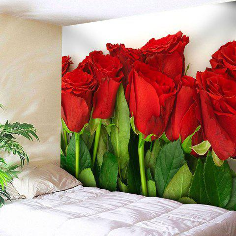 Valentine's Day Wall Hanging Rose Flowers Pattern Tapestry - COLORMIX W71 INCH * L71 INCH