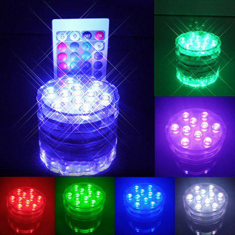 Color Change LED Lights Remote Control Waterproof Cup Coaster - TRANSPARENT