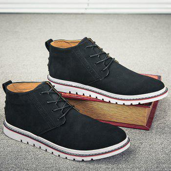 Breathable Studs Faux Leather Casual Shoes - BLACK 41