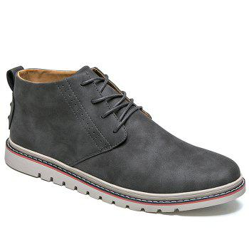 Breathable Studs Faux Leather Casual Shoes - GRAY GRAY